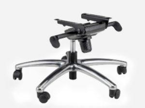 base metálica de silla de oficina con ruedas