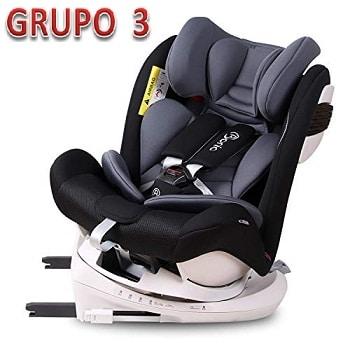 Mejores sillas de coche para bebes grupo 3