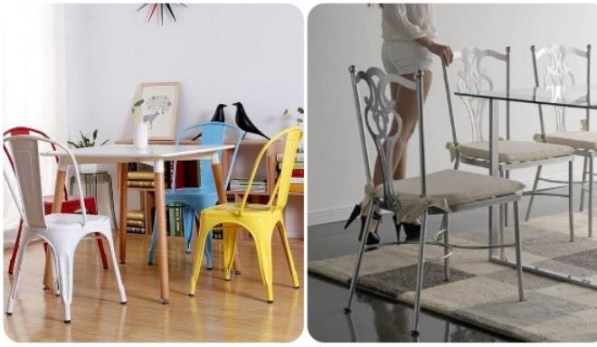 opinion ventajas sillas metal comedor