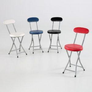 sillas taburete coloridas con respaldo