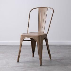 silla industrial simple de color marrón