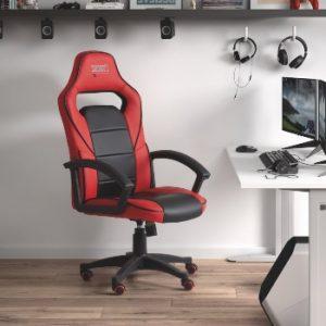 silla juvenil roja y negra