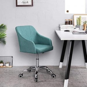 silla de escritorio nórdica de color azul