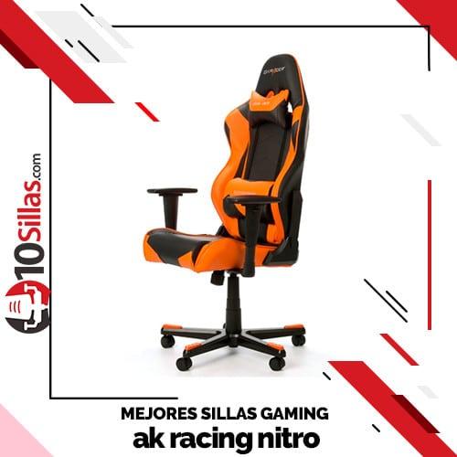 Mejores sillas gaming ak racing nitro