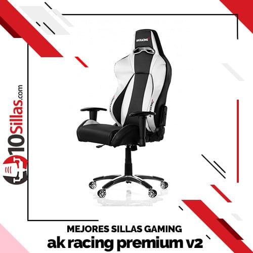 Mejores sillas gaming ak racing premium v2