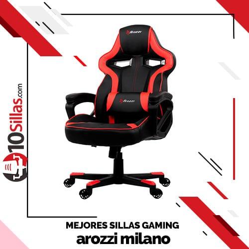 Mejores sillas gaming arozzi milano