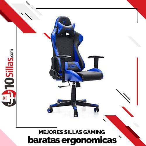 Mejores sillas gaming baratas ergonomicas