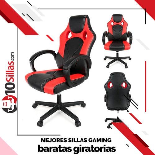 Mejores sillas gaming baratas giratorias