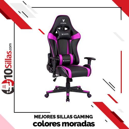 Mejores sillas gaming colores moradas