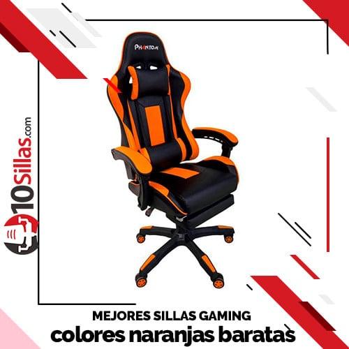Mejores sillas gaming colores naranjas baratas