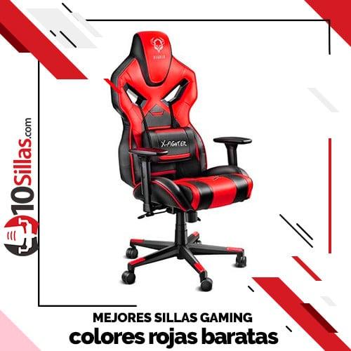 Mejores sillas gaming colores rojas baratas