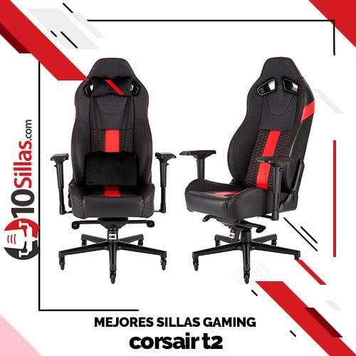 Mejores sillas gaming corsair t2
