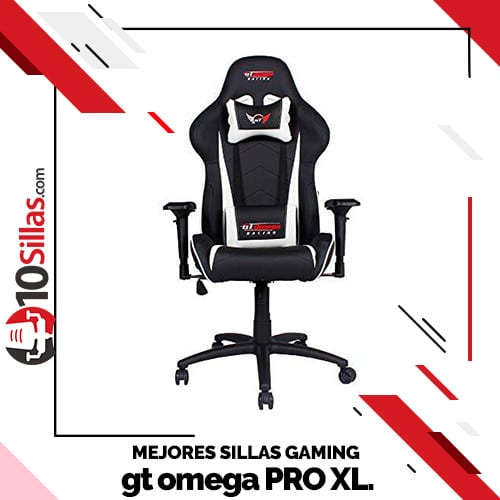 Mejores sillas gaming gt omega PRO XL.