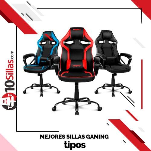 Mejores sillas gaming tipos
